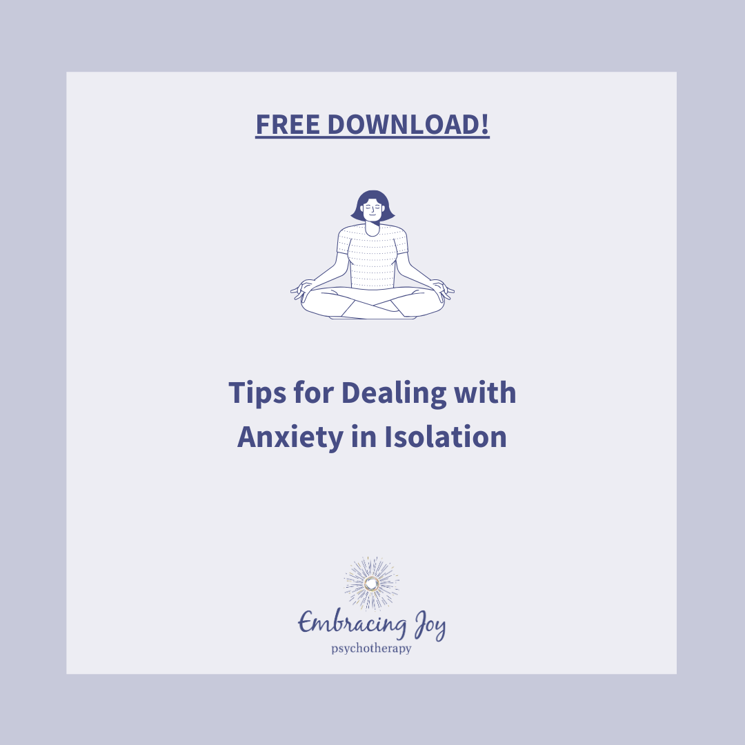 Tips for Dealing with Anxiety in isolation during COVID-19